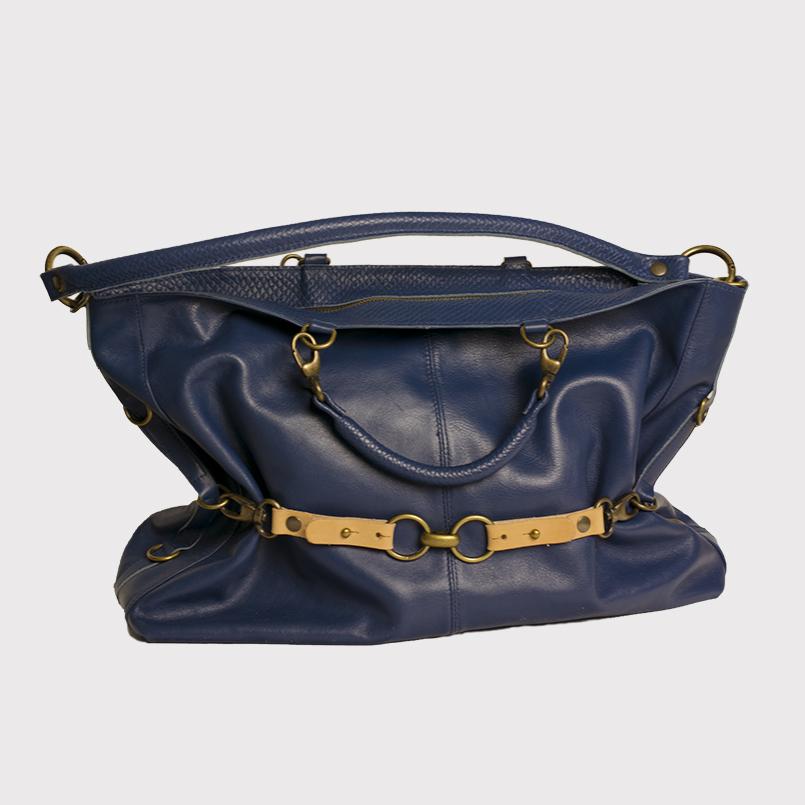 Luna schoudertas donkerblauw